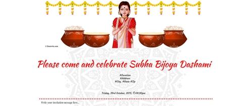 You're cordially invited for Subho Bijoya Dashami