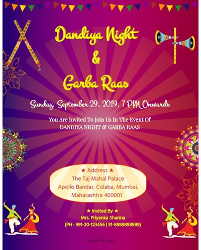 garba-night-party-invitation-card