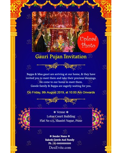 gauri-pujan-invitation-card-with-photo