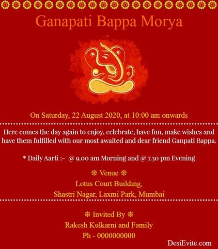 Om Ganeshaya Namah Join the puja