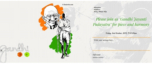 Come and join for the Gandhi Jayanti