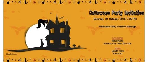 A Halloween Horror Invite