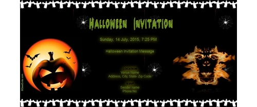 Monster Masquerade Halloween Party Invitation