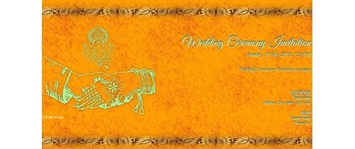 You are invited on the occasion of Marriage Ceremony