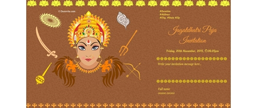 Be with us for celebrating Jagatdhatri Puja