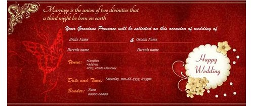 Marriage is union of two divinities Wedding Invitation