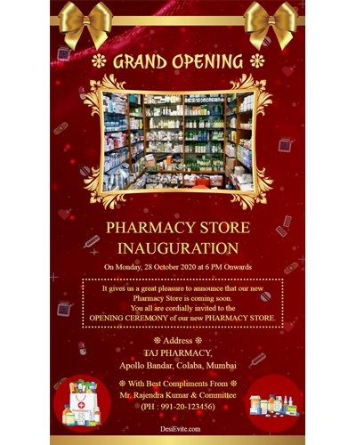 pharmacy-store-inauguration-ecard