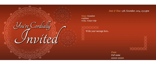 You are cordially Invited Reception Ceremony Invitation