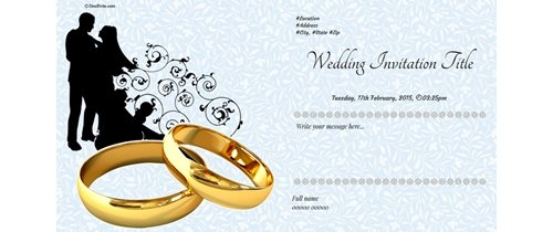 Happy Wedding Day Invitation