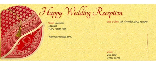 free receptionbahu bhaat party invitation card  online