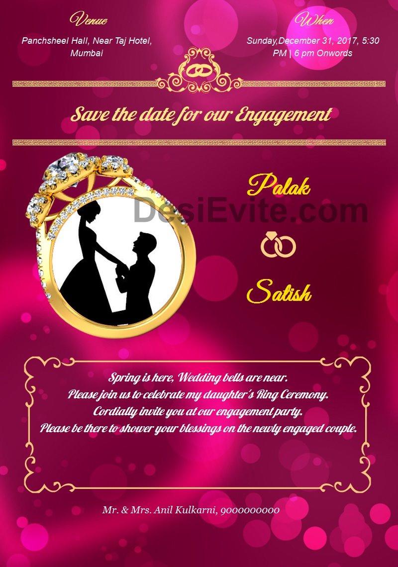 Unique Engagement Party Invitation Wording Casual Embellishment ...