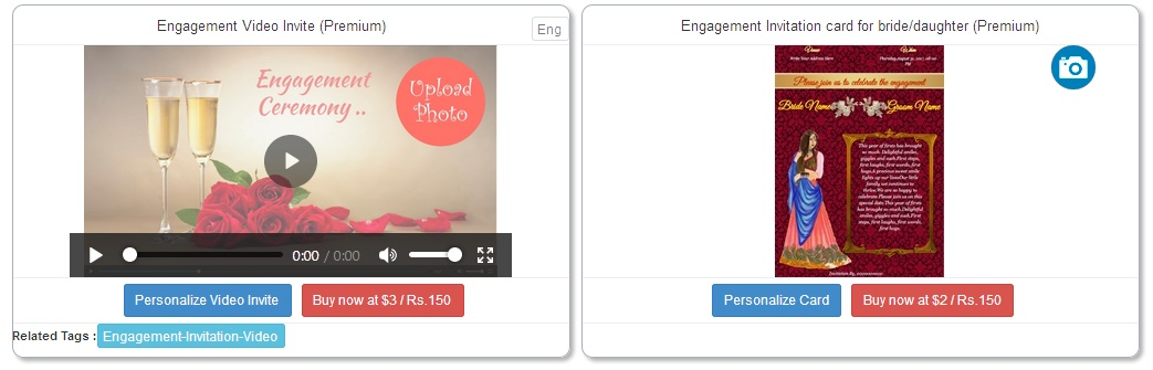 How to create engagement invitation video step4 after clicking on buy now button to purchase video template and after making payment you can personalize video stopboris Images