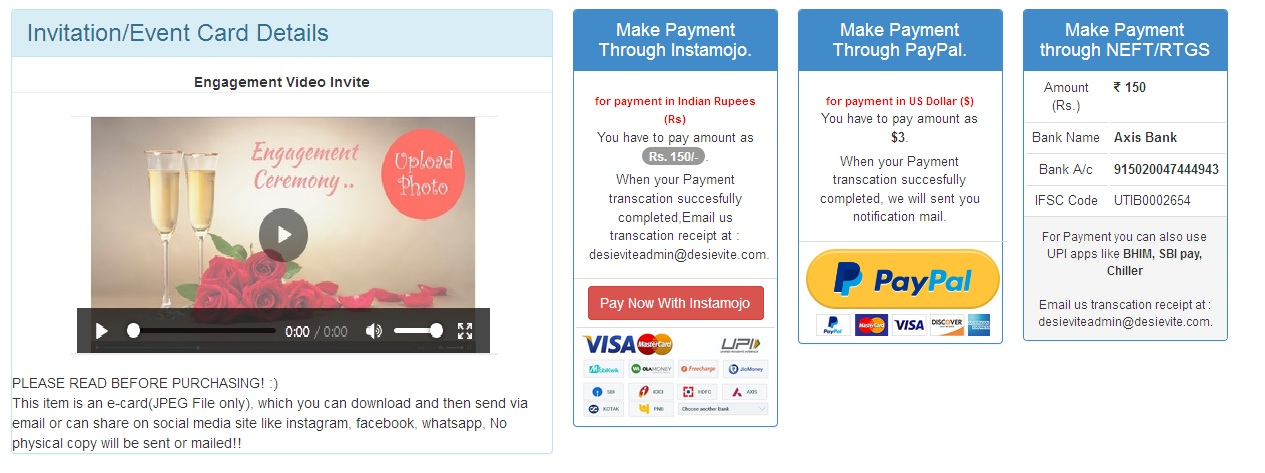 How to create engagement invitation video step 5 click on personalize card and fill up all details stopboris Images